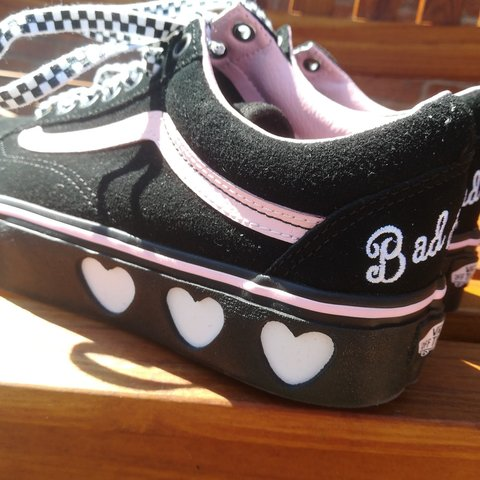 068c30dd76d RESERVED!!!! Vans X Lazy Oaf Old Skool Platforms Size worn a - Depop