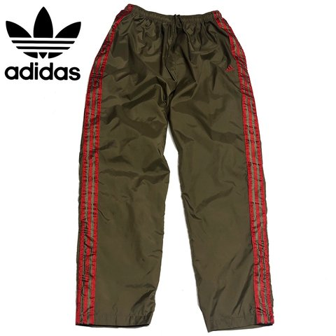 8b2d1eaac @newandvintagedripp. 18 days ago. Pueblo, United States. Amazing pair of vintage  90s Adidas 3 Stripes Windbreaker Track Pants.