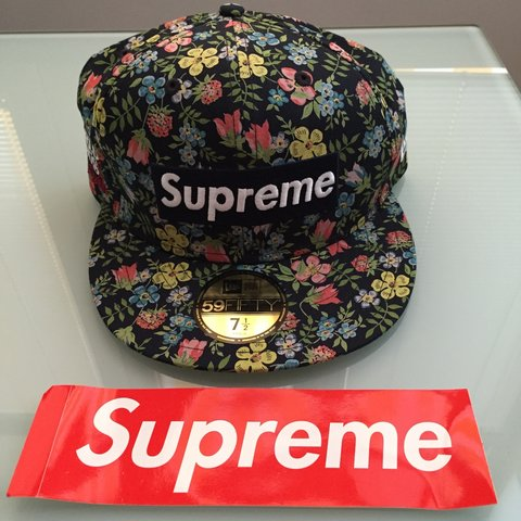 ac9c3f11b55 Supreme X LIberty X New Era – FLORAL BOX LOGO 59FIFTY FITTED - Depop