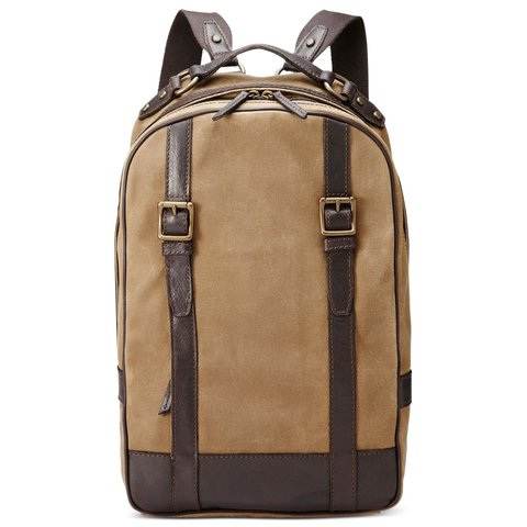 8dd6ecbe99 Fossil Khaki Estate Calvary Twill Top Zip Backpack