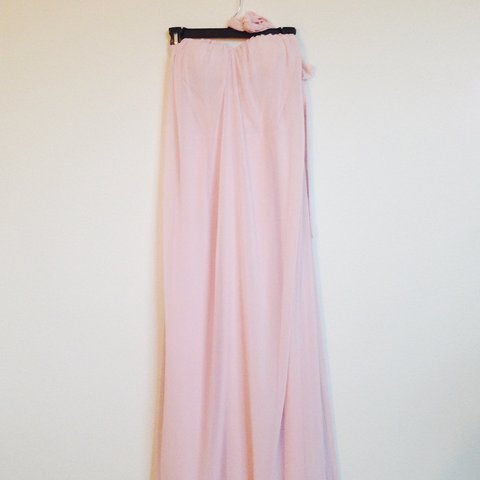 3e9a18c3e43 Blush chiffon  maxi dress with built in cups