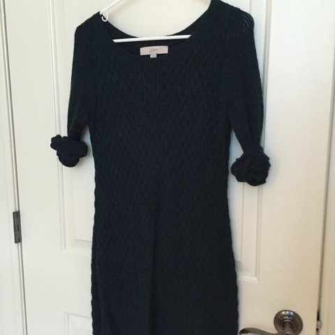 5bdd16163d9  kathrynclaire12. 3 years ago. United States. Ann Taylor Loft dark hunter  green sweater dress! Dress is a size ...