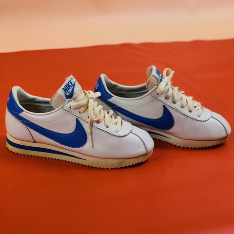 c4ec4157829d Vintage late 70s-early 80s royal blue nike Cortez sneakers a - Depop