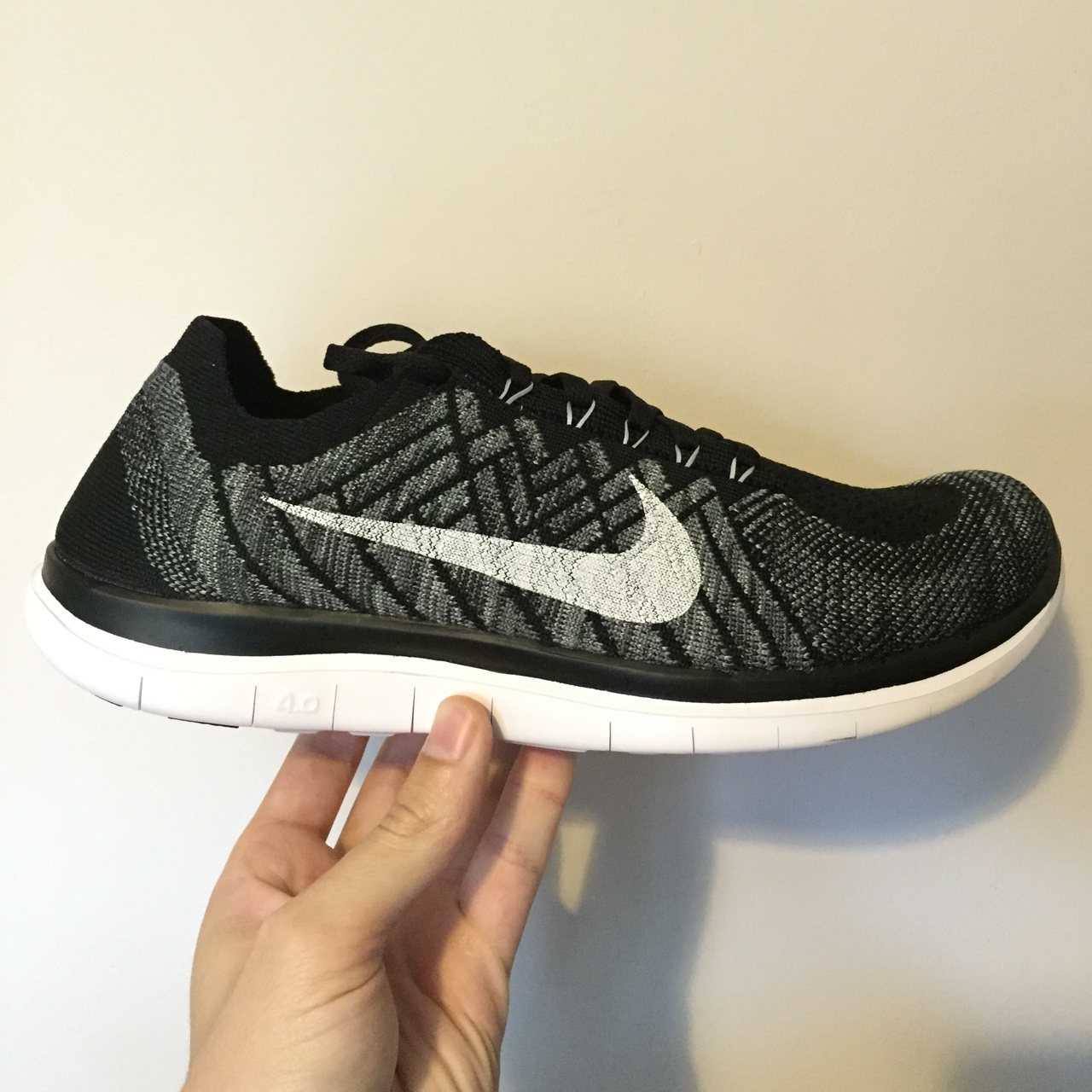 new product 2b379 3c1c5 BRAND NEW IN BOX!! Nike free flyknit 4.0 in Oreo... - Depop