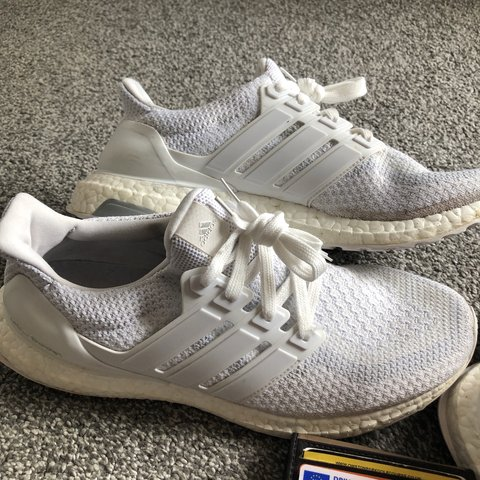 Adidas Ultra Boost 2.0 Triple White    Size UK 9    No box - Depop de77930b8