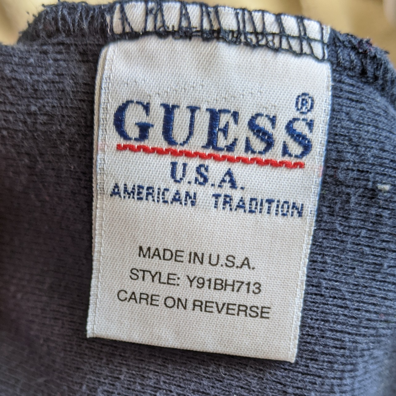 RARE VINTAGE GUESS JEANS USA Navy blue dress