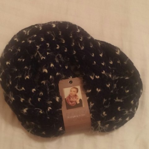 Stark Backed Navy Blue Infinity Scarf Has A Soft Knit With A Depop