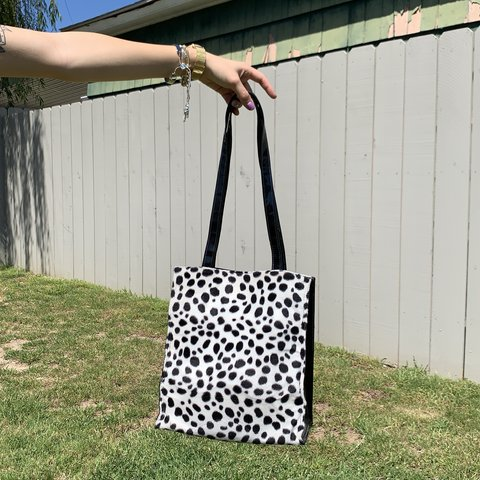 0ce422db9934 Dalmatian Print Tote Bag 🐾 I'm having a bit of an animal as - Depop