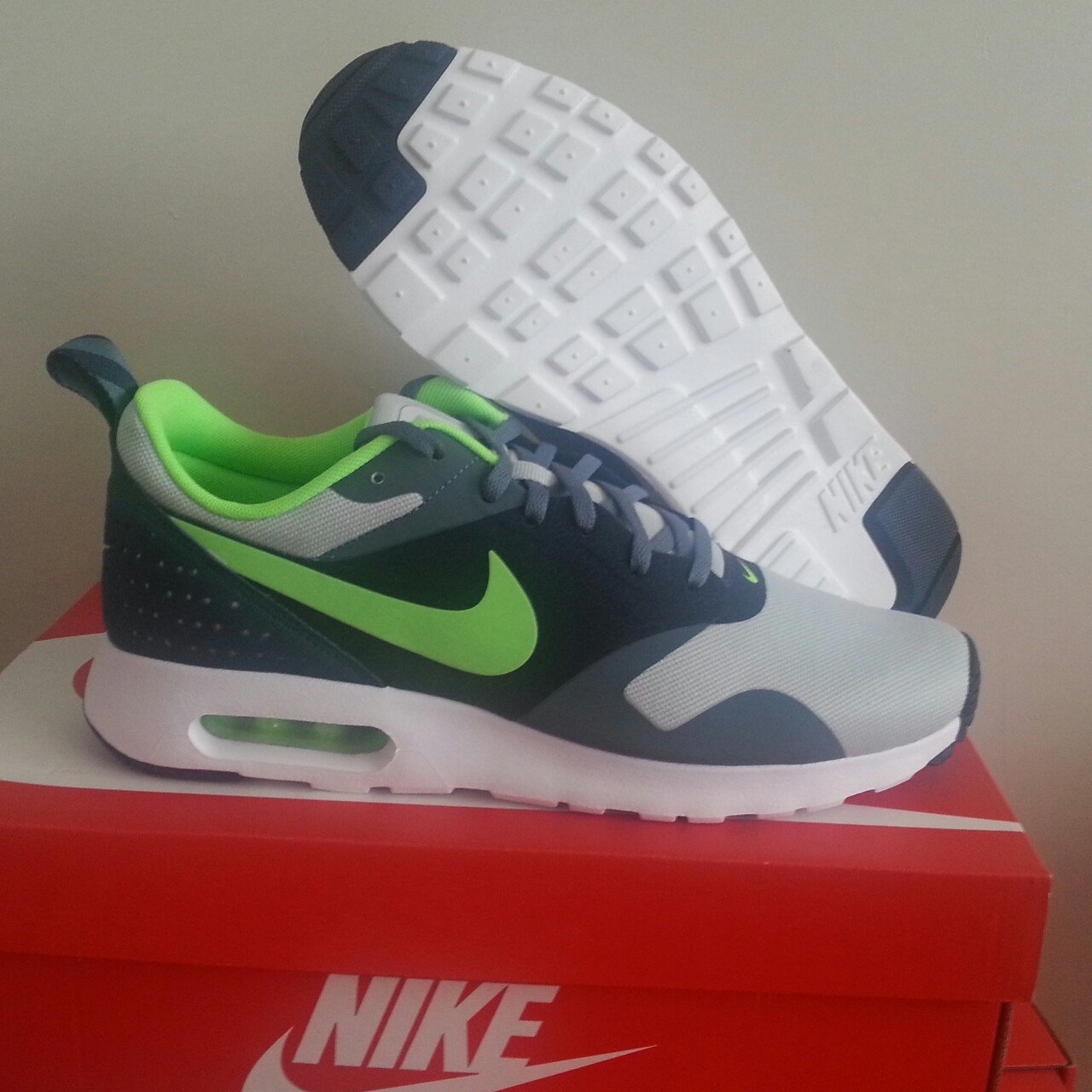 newest 1e302 910dd  sportssector. 4 years ago. Birmingham, United Kingdom. Nike Air Max Tavas  Mens Colour  Grey Mist Armoury Slate Obsidian Flash Lime Brand ...
