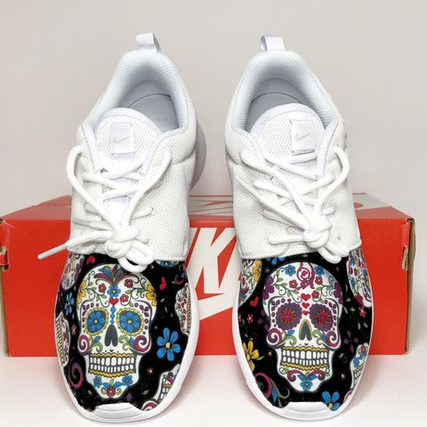 f357b8481f26 Nike Roshe One Sugar Skull Custom Men and Women size Day of - Depop