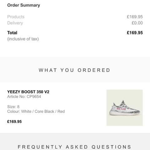 5f626e008 Copped 2 pairs of the zebra yeezy both size 8! Ordered from - Depop