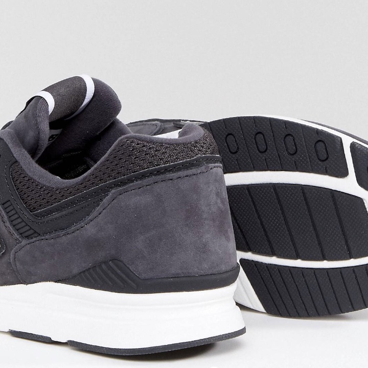 New balance 697 women's suede navygrey and silver Depop