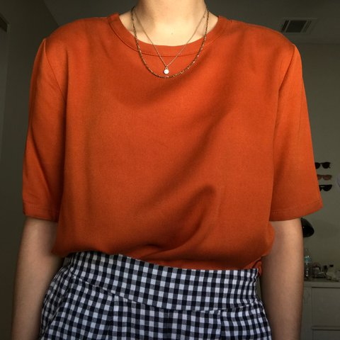 f223542b7ba8b Vintage Burnt Orange Blouse Source · Burnt orange blouse from F21 Such a  cute and valid Depop