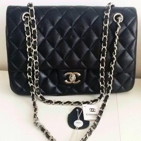 b597ebd8c879 @becccaaaaa. 3 years ago. Sunderland, Tyne and Wear, UK. Black quilted  Chanel bag with chain strap and gold hardware ...
