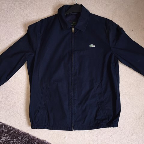 198b1702d REDUCED  Lacoste Harrington style jacket in navy. 9 10 only - Depop