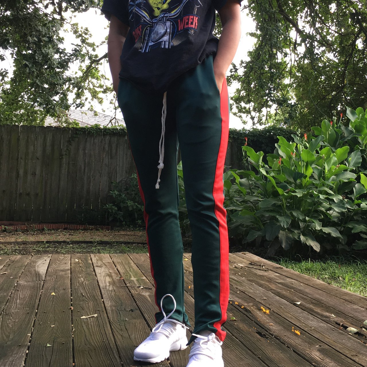 85bfa7193909e8 @guccinay. 2 years ago. United States. EPTM green and red track pants ...