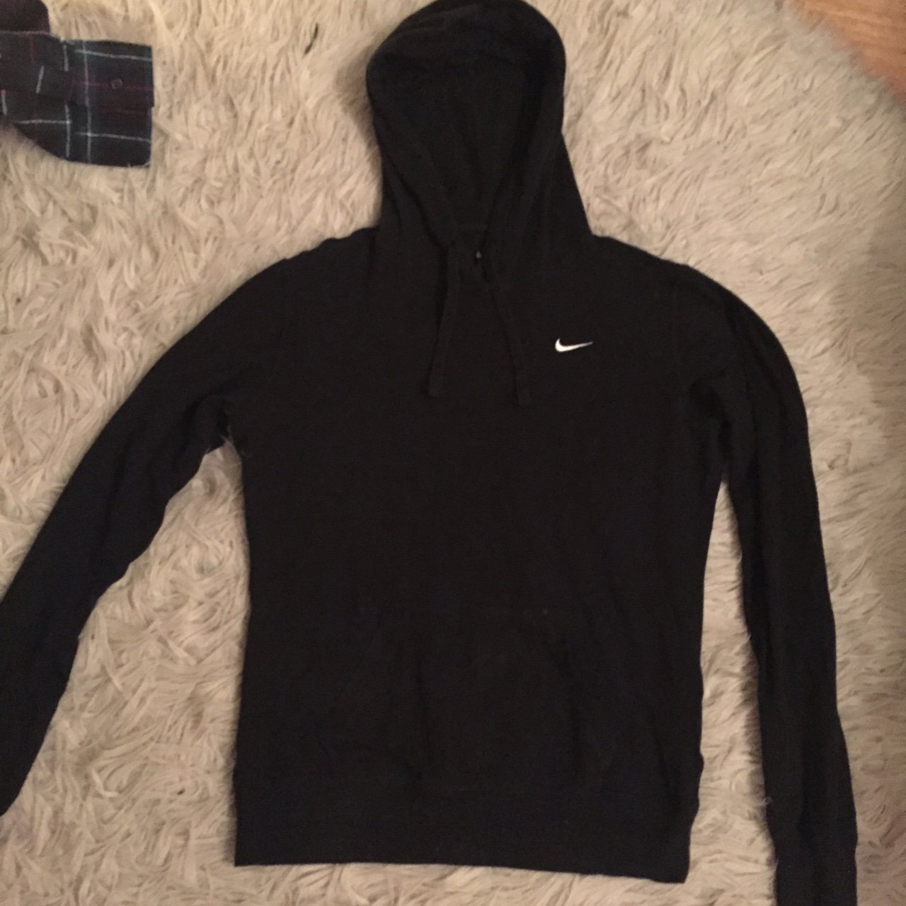 Thin black Nike workout pullover hoodie in size S. Worn once - Depop ce51601769c