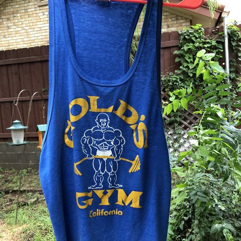 3a27c6ab195f92 Vintage 70s golds gym tank Graphic is in decent condition - Depop