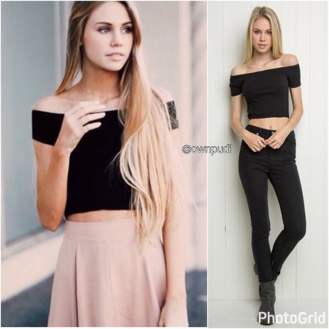 ca73a1431c880 Brandy Melville Ribbed Charlene Top. Has piling from washing - Depop