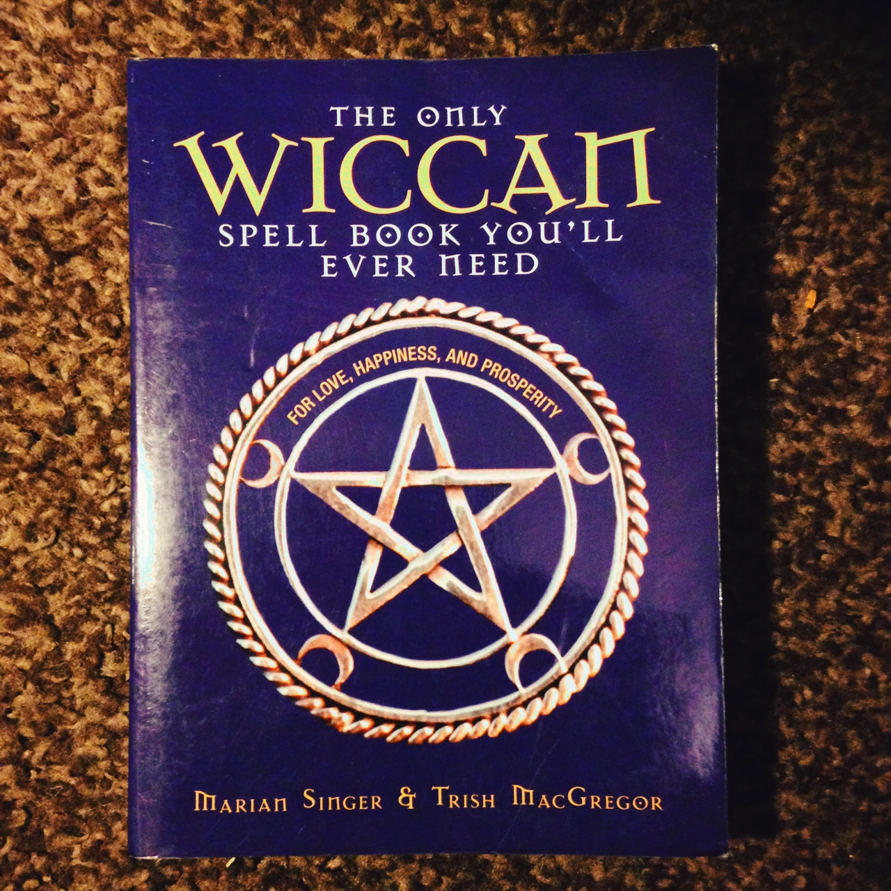 Wiccan spell book with a few signs of wear #wicca    - Depop
