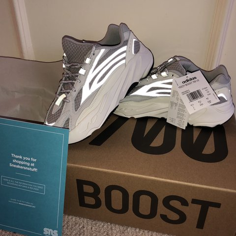 09387f56b3017 Adidas Yeezy Boost 700 V2 Static UK 6.5 Reflective Will go - Depop