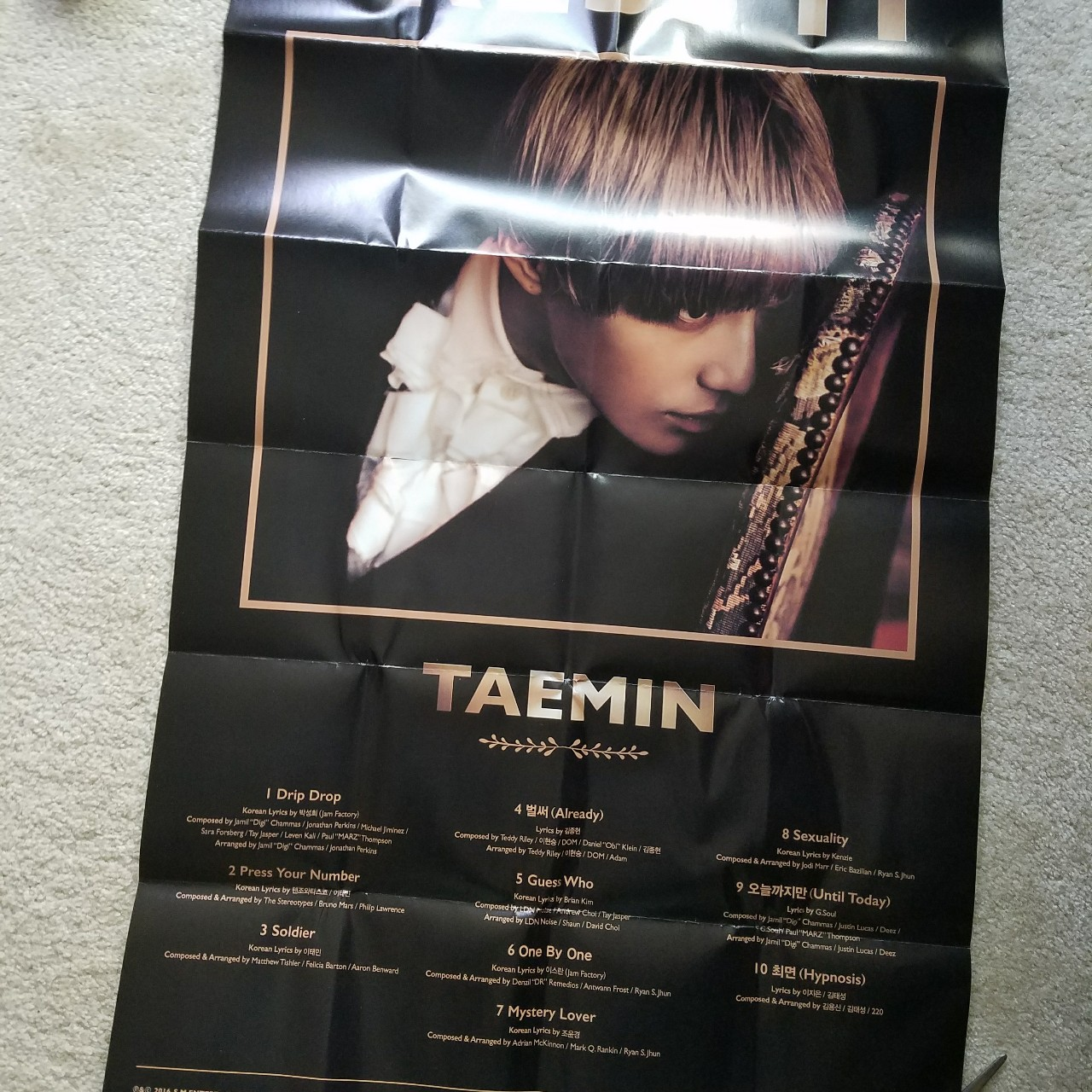 Taemin Press Your Number Poster This poster came    - Depop