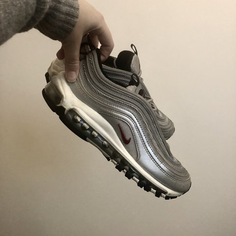 6a1b6810e6e1 Nike Air Max 97  Silver Bullet  UK Size 5 are a few scuffs a - Depop