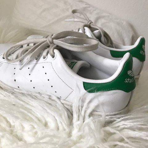 755cdac499d4c5 Adidas original green Stan Smith shoes. I lived in these but - Depop