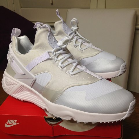 806b8a62e530 Nike Air Huarache Size  Men s US 10 Color  Triple White. OR - Depop