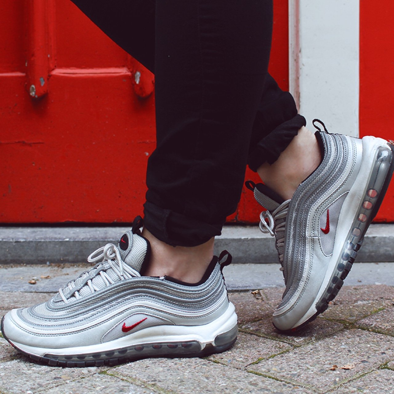 1858d3b64316 air max 97 silver bullet    size 8.5 will fit a 8 or 9 also - Depop