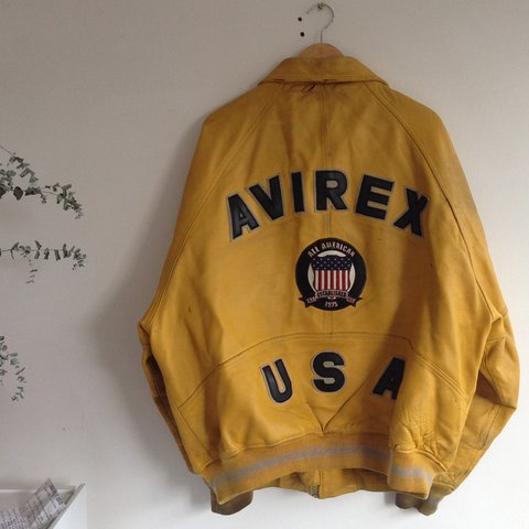 698b22f9fa9785 Vintage Avirex Leather Bomber Jacket