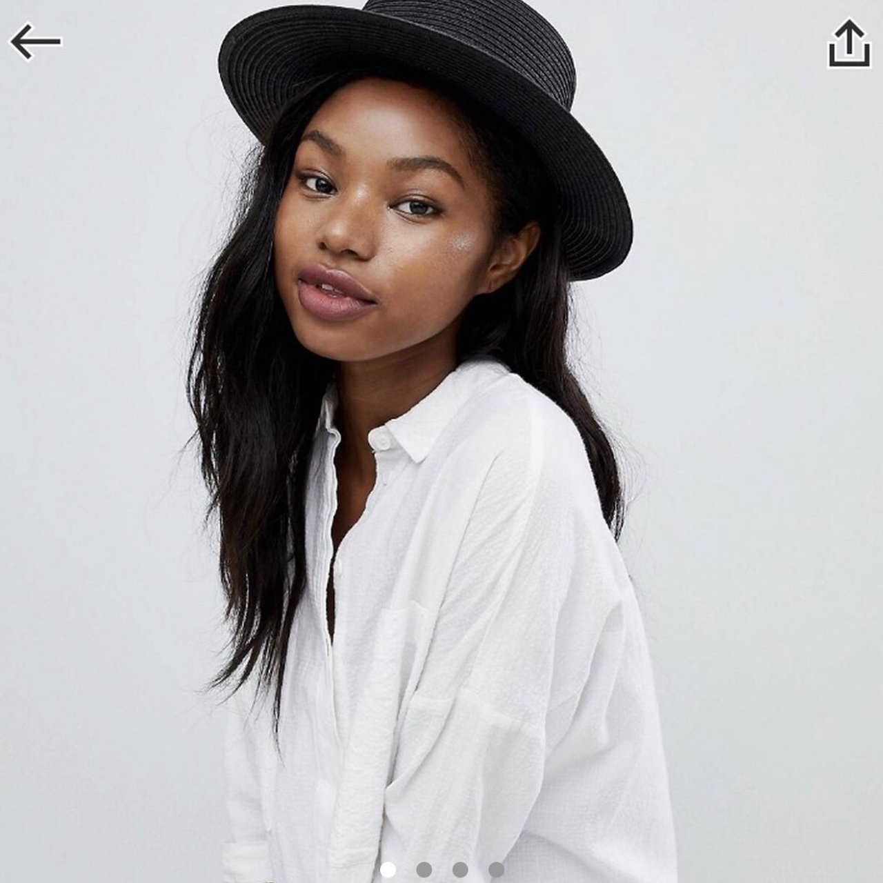 ASOS stylish black hat • free postage • worn once on holiday - Depop a650e6055c7