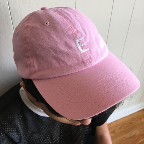 6f910faefa5 EASY E millennial pink b-ball cap. cute fresh probably worn - Depop