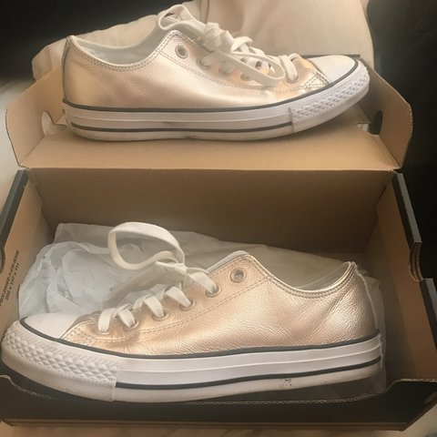 f0437c0fa71d Rose gold converse size 6! Great condition