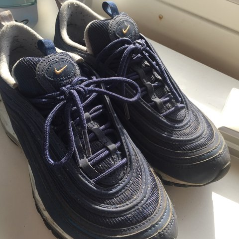 7ce4058648 @adele_xo. 5 months ago. London, United Kingdom. Nike Air Max 97 navy with gold  tick ...