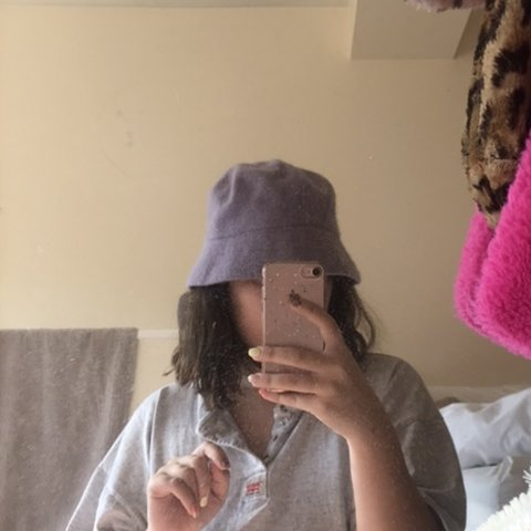 cb6f697cd4e Lilac purple bucket hat    £12 inc shipping    pastel rave - Depop