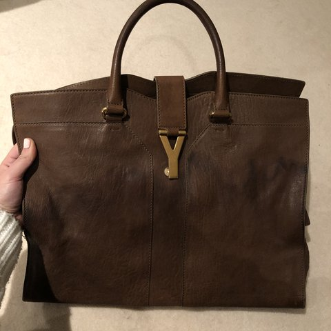 97211858007a2 YSL cabas chyc bag. Slight water stain on the front and can - Depop