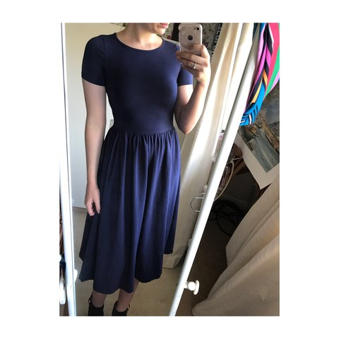 08945115e09 Very smart vintage asos navy medi dress ✨Perfect casual or a - Depop