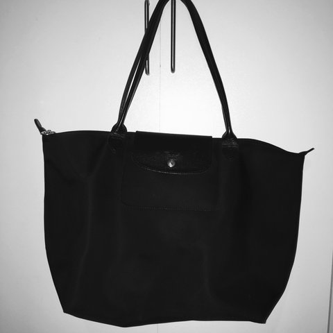 ecd95580caf3 Longchamp black le pliage bag  longchamp - Depop