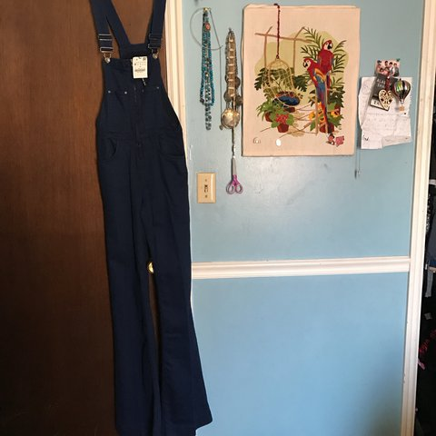 1fa970b5821 ZARA flared overalls as seen on several fashion bloggers. A - Depop