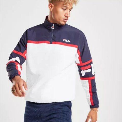 fc56f80d8a30a Brand New Fila Hadley 1/2 Zip Woven Track Top up and get - Depop