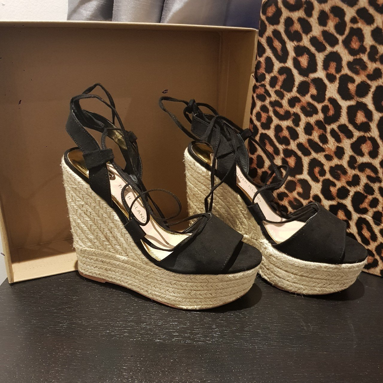 8ac21a3cb89 River island black wedges Sold out