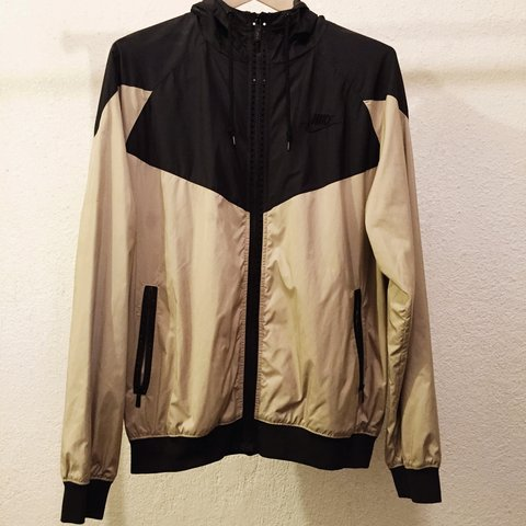076717a7a Nike Sportswear full zip windbreaker with hood. Stars appear - Depop
