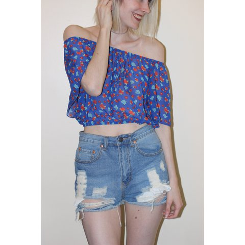 2060a7153791 This is the perfect off the shoulder crop top for the Don t - Depop