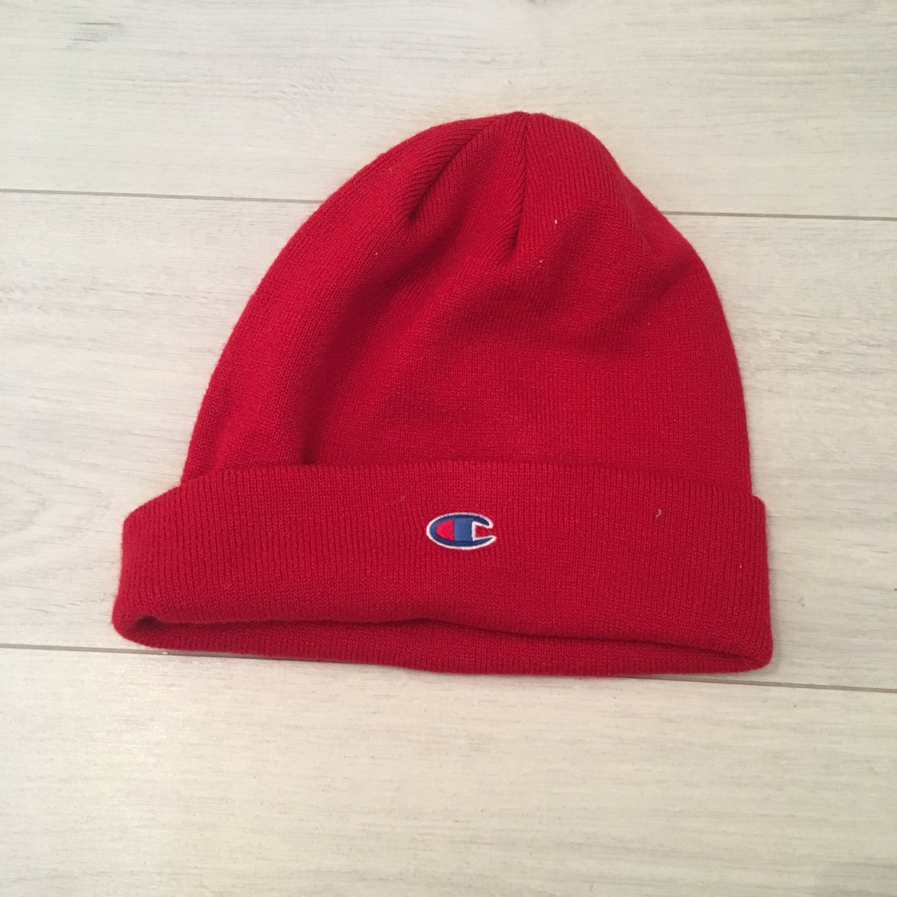 Red champion beanie Never been worn  champion  beanie  red - Depop f8e8f5d23ba