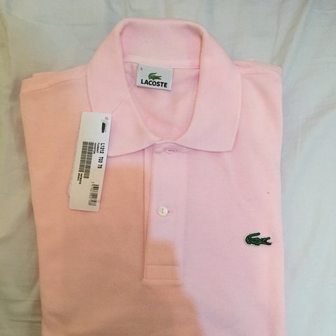 97df6c79f Brand new men s light pink Lacoste long sleeve polo size 5 a - Depop