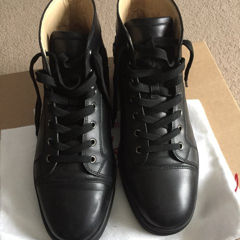 f3702be92395 Selling my black high top loubs. Serious buyers only. Spare - Depop