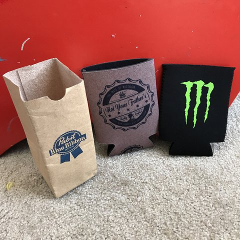 Koozie Bundle Blue Ribbon Hold Their Small Cans And Is Like Depop