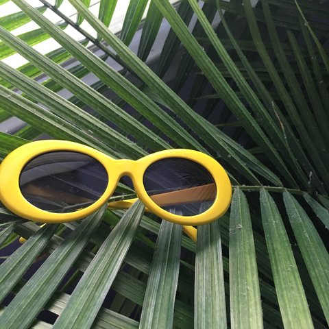 ee3d3275c9170 ✨Yellow Clout Glasses lol✨ New Without Tags! Tags  forever - Depop