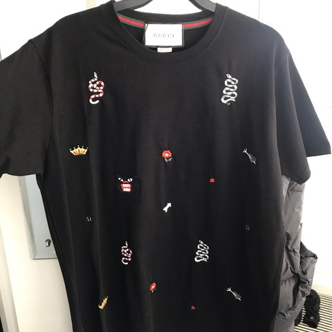42dd2ed2a594 Gucci men's embroidered top - size L but i brought it so it - Depop